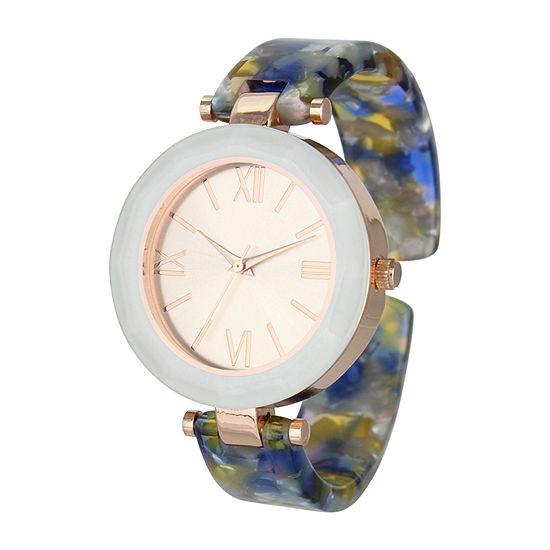 Geneva Womens Multicolor Bangle Watch-Pt6871frgbl