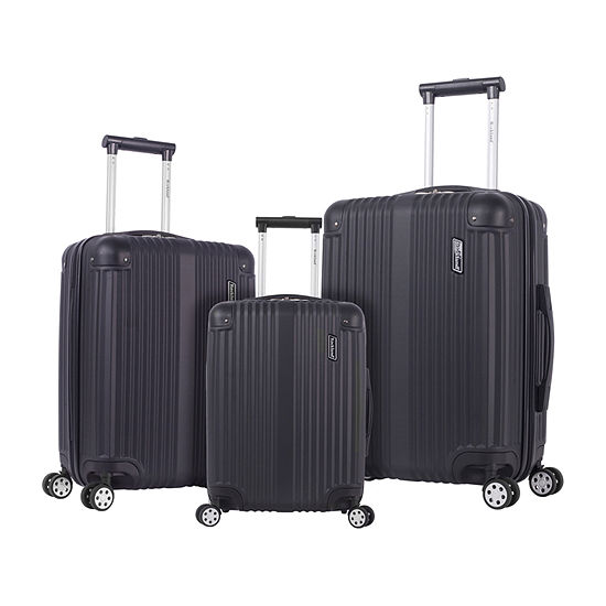 Rockland Abs Non Expandable 3-pc. Hardside Lightweight Luggage Set