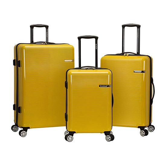 Rockland Polycarbonate Abs Upright 3-pc. Hardside Lightweight Luggage Set