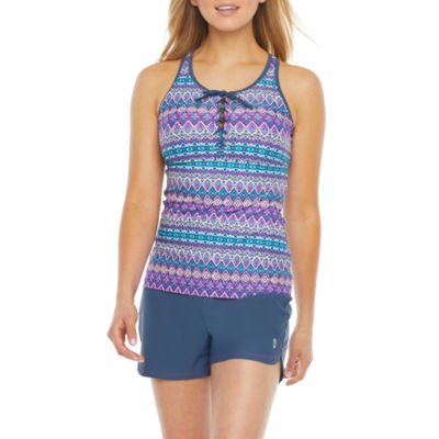 Free Country Ombre Tankini Swimsuit Top