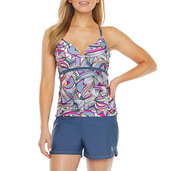 Free Country Leaf Tankini Swimsuit Top