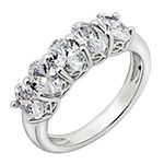 Womens 2 1/2 CT. T.W. Cubic Zirconia Sterling Silver Oval Promise Ring