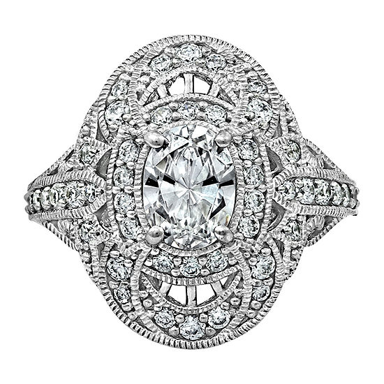 Womens 2 CT. T.W. Cubic Zirconia Sterling Silver Dome Cocktail Ring