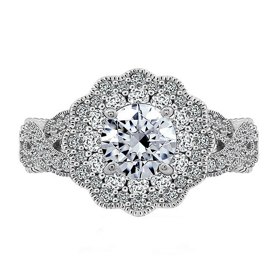 Womens 2 1/3 CT. T.W. Cubic Zirconia Sterling Silver Dome Cocktail Ring