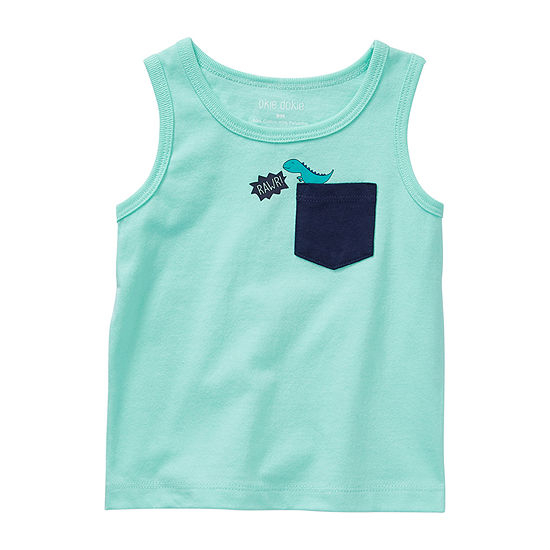 Okie Dokie - Baby Boys Crew Neck Sleeveless Muscle T-Shirt