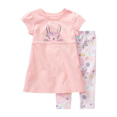 Okie Dokie Baby Girls 2-pc. Pant Set