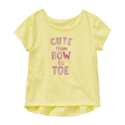 Okie Dokie Girls Round Neck Short Sleeve Graphic T-Shirt - Baby