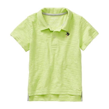 Okie Dokie Toddler Boys Short Sleeve Polo Shirt, 2t , Green