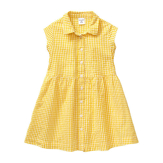 Okie Dokie Toddler Girls Short Sleeve Fit & Flare Dress