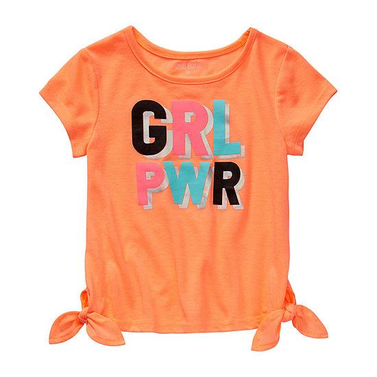 Okie Dokie-Toddler Girls Round Neck Short Sleeve Graphic T-Shirt