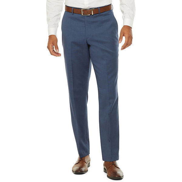 Stafford Super Blue Birdseye Slim Fit Stretch Suit Pants