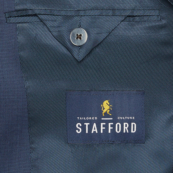 Stafford Super Blue Birdseye Slim Fit Stretch Suit Jacket
