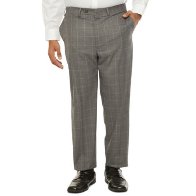 Shaquille O'Neal XLG Mens Windowpane Stretch Classic Fit Suit Pants - Big and Tall
