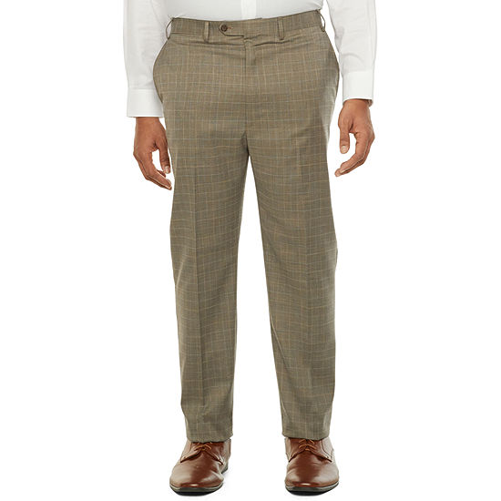 Shaquille O'Neal XLG Mens Plaid Stretch Classic Fit Suit Pants - Big and Tall