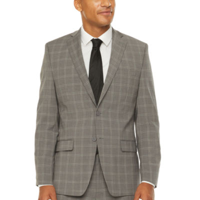 Collection by Michael Strahan  Mens Windowpane Stretch Classic Fit Suit Jacket