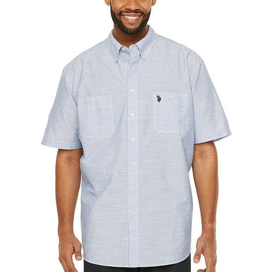 U.S. Polo Assn. Mens Short Sleeve Button-Down Shirt  -Big and Tall