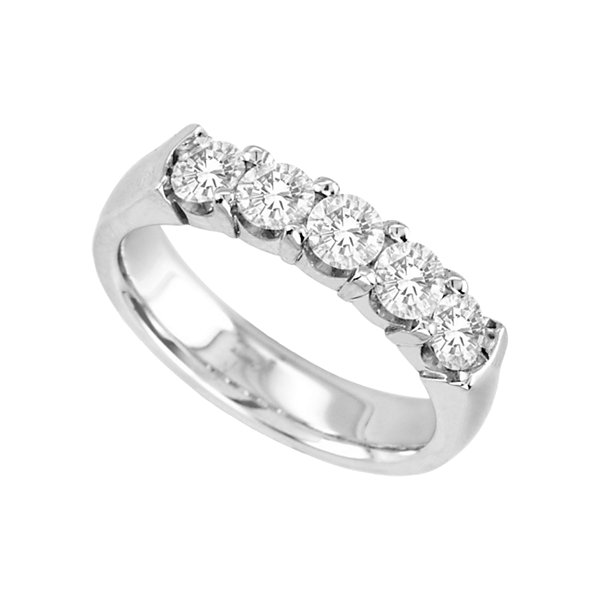 1 CT. T.W. Diamond Band 14K White Gold