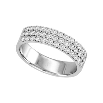 3/4 CT. T.W. Diamond Multi-Row Band