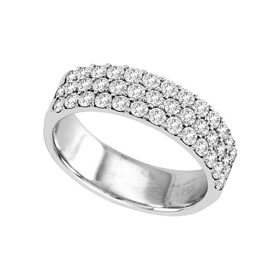 1 CT. T.W. Diamond Multi-Row Band
