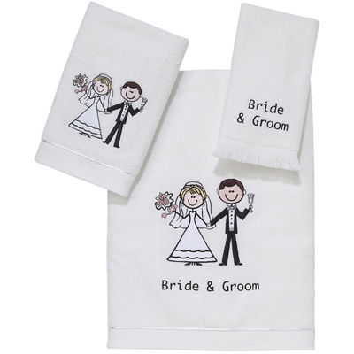 Avanti Bride and Groom Bath Towels