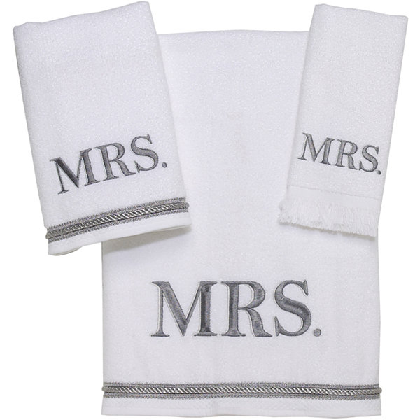 "Avanti ""Mr. & Mrs."" Bath Towels"