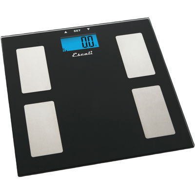 Escali® Glass Body Fat Water & Muscle Mass Digital Scale USHM180G