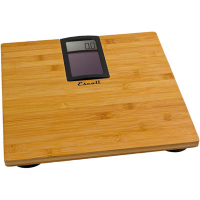 Escali® Solar Bamboo Bath Scale ECO180