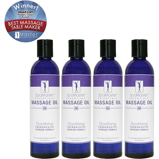 Master Massage 4 Pack 8 Oz Soothing Blend Massage Oil