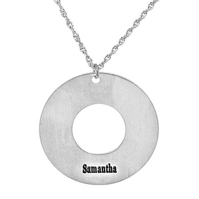 Personalized Grant Me the Serenity Sterling Silver  Pendant Necklace