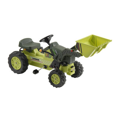 Pedal Tractor with Front Loader - Green