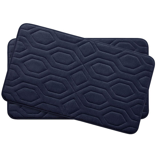 Bounce Comfort Turtle Memory Foam 2 Pc Bath Mat Set