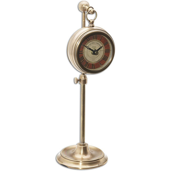 Pocket Watch Brass Thuret Table Clock