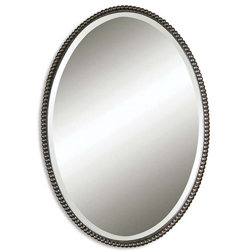 Sherise Bronze Oval Wall Mirror