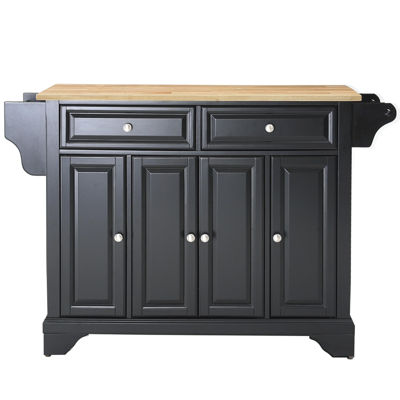 Chatham Natural Wood-Top Kitchen Island