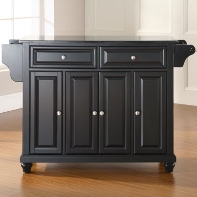 Pelham Black Granite-Top Kitchen Island