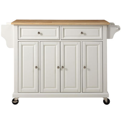 Wellman Natural Wood-Top Kitchen Island