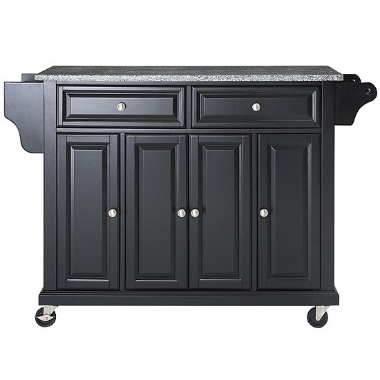 Wellman Granite-Top Rolling Kitchen Island