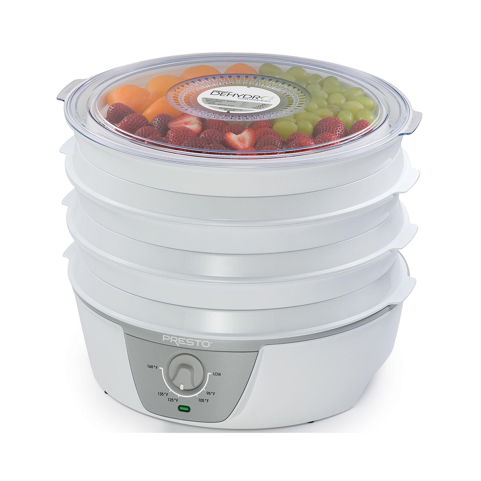 """Presto Dehydro"""" Electric Food Dehydrator With Adjustable Temperature Control"""
