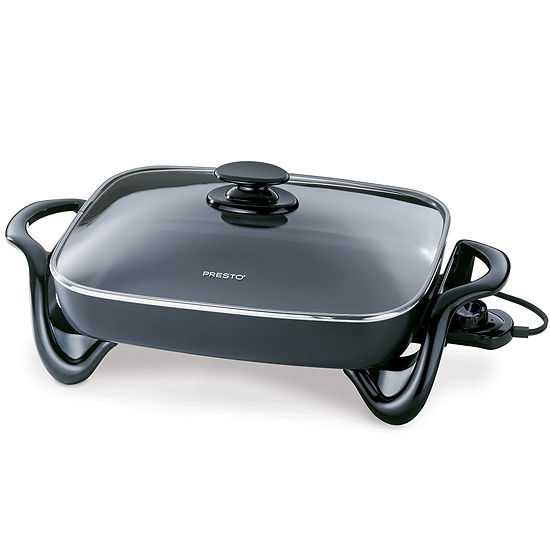 """Presto 16"""" Electric Skillet with Glass Cover"""