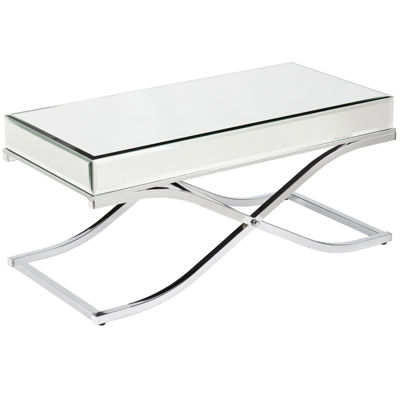 Aberdeen Chrome Mirrored Cocktail Table