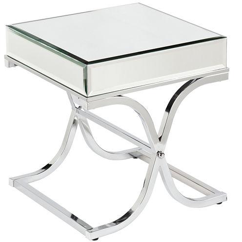 Aberdeen Chrome Mirrored End Table