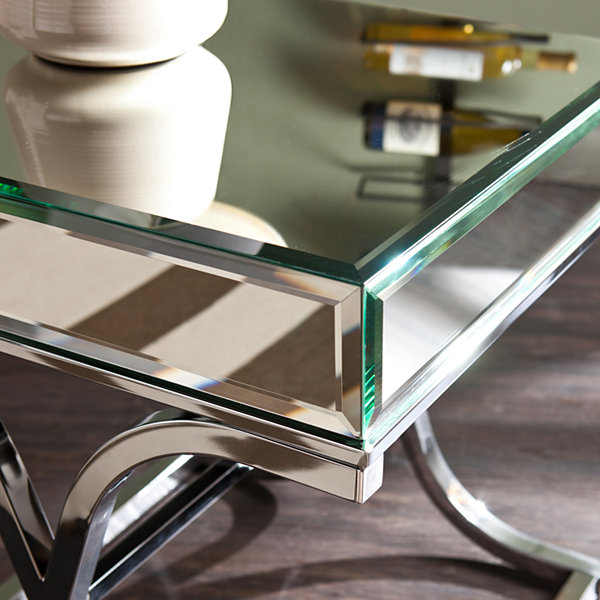 Aberdeen Chrome Mirrored End Table