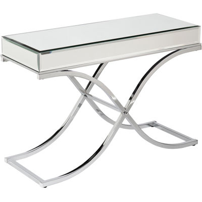 Aberdeen Chrome Mirrored Console Table