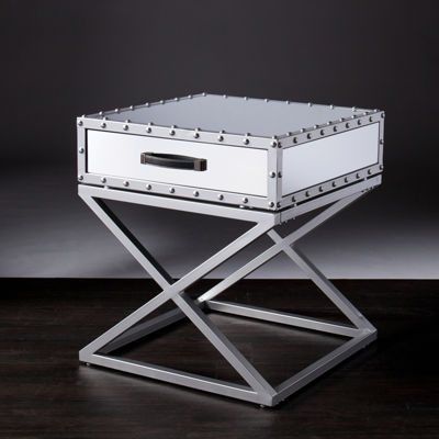 Brighton Mirrored End Table