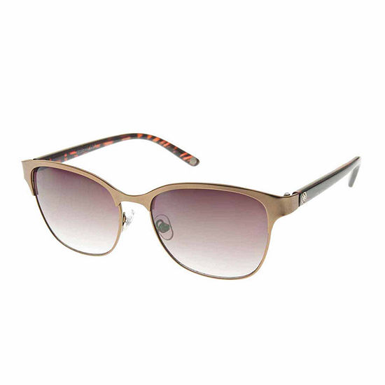 Nicole By Nicole Miller Womens Round UV Protection Sunglasses