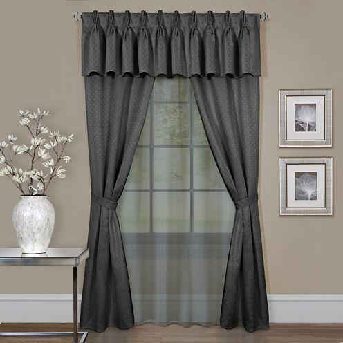 Clair 6-Pc Rod-Pocket Curtain Panel