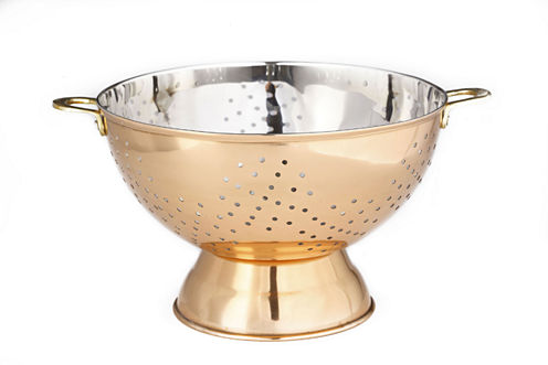 Old Dutch Décor Copper Footed Colander and Centerpiece