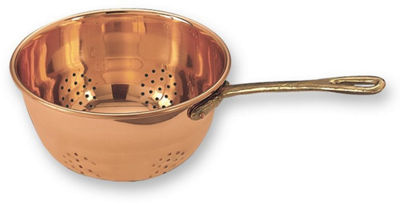Old Dutch Décor Copper Hanging Colander with Brass Handle