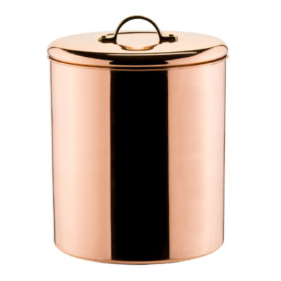 Old Dutch Polished Copper Décor Cookie Jar with Brass Knob 4Qt