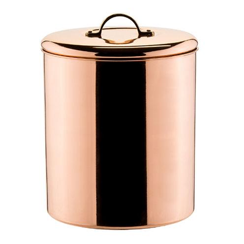 Old Dutch Polished Copper Décor Cookie Jar with Brass Knob 4Qt